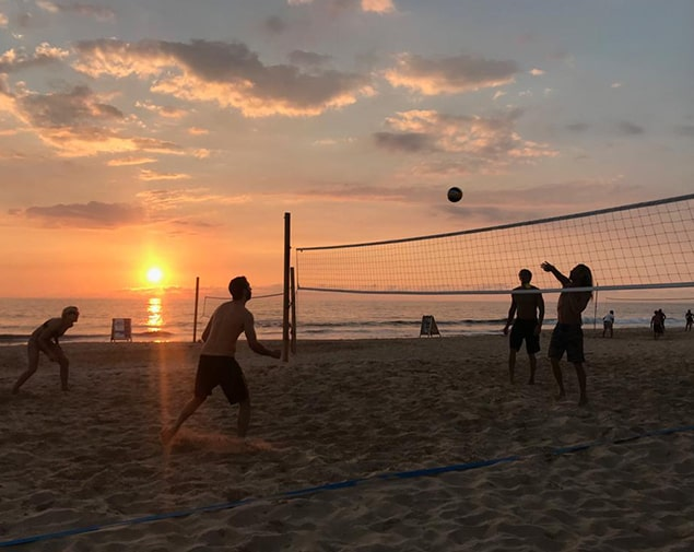 Beachvolleyball Training auf Sri Lanka